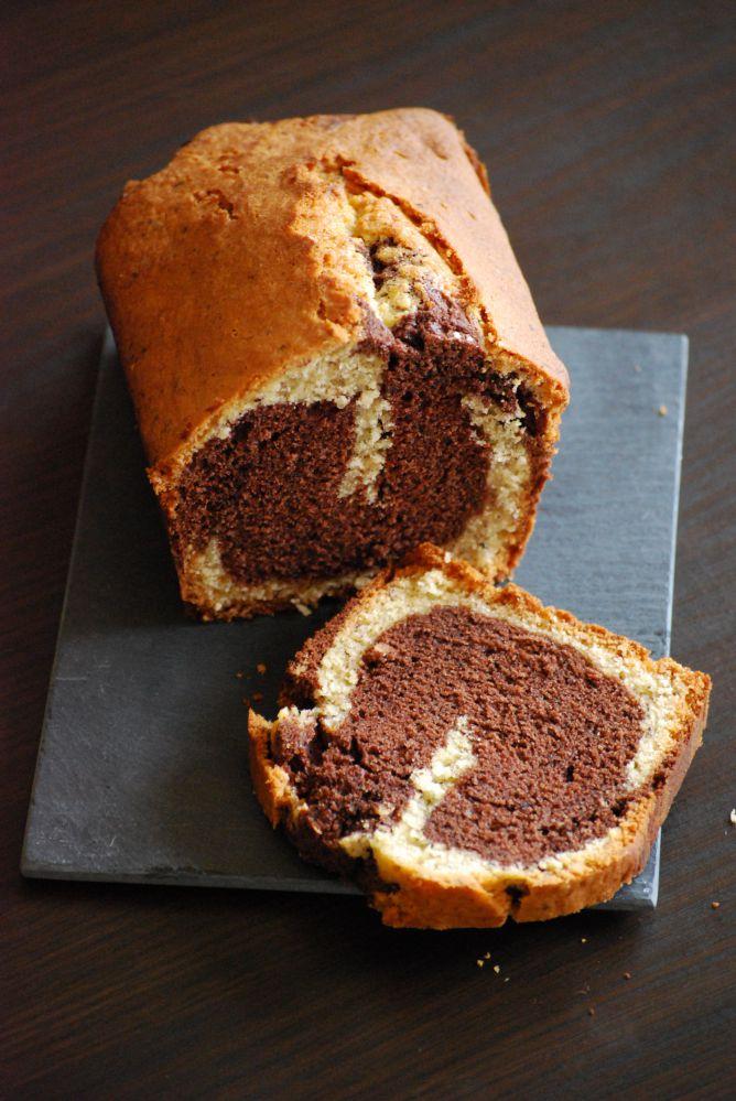 Cake Marbr Ef Bf Bd Au Chocolat Noir
