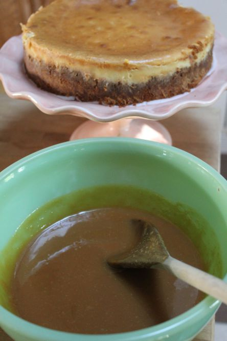 Cheesecake chocolat blanc Caramel 3