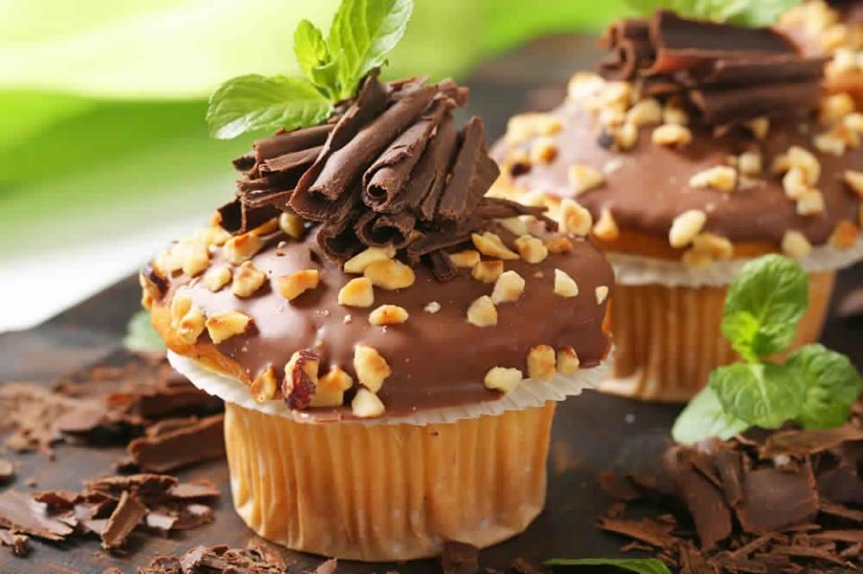 cupcake vanille  décore chocolat