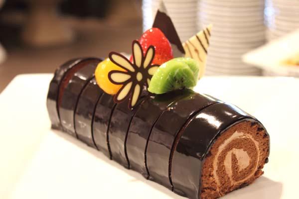 Gateau roule mousse au chocolat